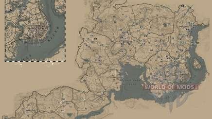 Carte de localisation de carte de Cigarette