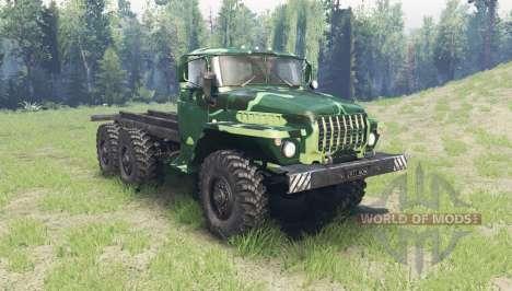 La couleur est l'Été camouflage pour Ural 4320 pour Spin Tires