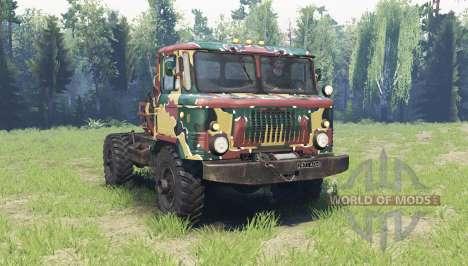 La couleur est l'Été camouflage pour le GAZ 66 pour Spin Tires