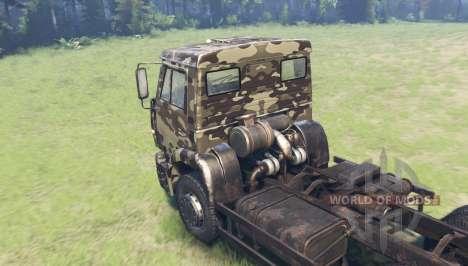 Couleur Desert camo pour KAMAZ 6520 pour Spin Tires