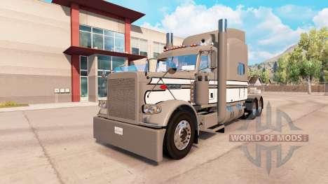 Haut Grau-Weiß-Schwarz auf dem truck-Peterbilt 3 für American Truck Simulator