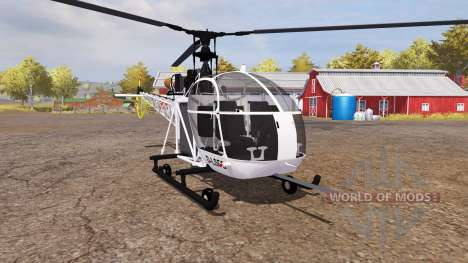 Aerospatiale SE.313B Alouette II v2.0 für Farming Simulator 2013