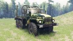 Die Farbe ist Sommer-Tarnung für Ural 4320 für Spin Tires
