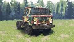 Die Farbe ist Sommer-Tarnung für den GAZ 66