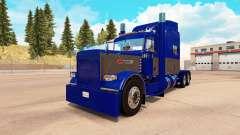 La peau Bleu et le Gris pour le camion Peterbilt