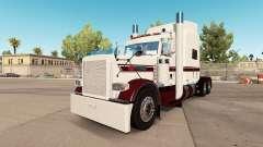 Die Haut Weiß Burgund beim truck-Peterbilt 389