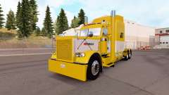 Haut Gelb und Weiß für die truck-Peterbilt 389
