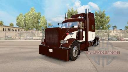 Crème pour la peau & Brown pour le camion Peterbilt 389 pour American Truck Simulator