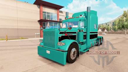 Haut-Türkis-schwarz für den truck-Peterbilt 389 für American Truck Simulator