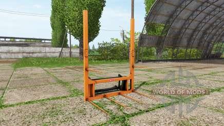 Hauer bale fork pour Farming Simulator 2017