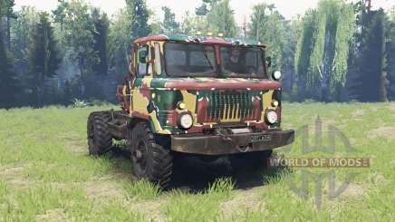 Die Farbe ist Sommer-Tarnung für den GAZ 66 für Spin Tires