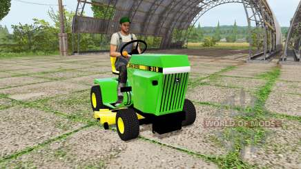 John Deere 318 mower pour Farming Simulator 2017