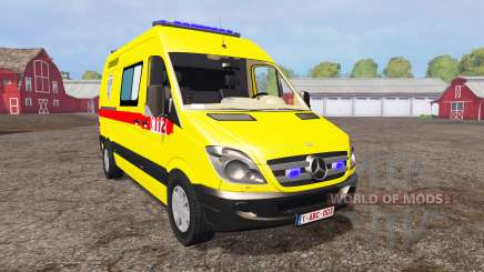 Mercedes-Benz Sprinter 311 CDI Ambulance pour Farming Simulator 2015