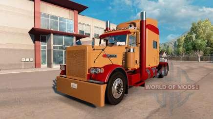 Скин Burgund und hellbraun на Peterbilt 389 für American Truck Simulator