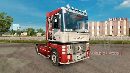 La peau Irina Shayk sur un tracteur Renault Magnum pour Euro Truck Simulator 2