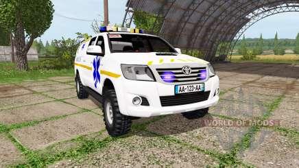 Toyota Hilux SAMU pour Farming Simulator 2017