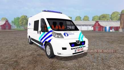 Peugeot Boxer Police vitre v1.1 pour Farming Simulator 2015
