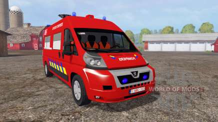 Peugeot Boxer sapeurs-pompiers für Farming Simulator 2015