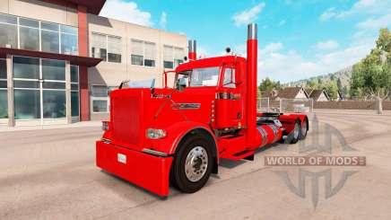 Dorfbewohner Roter skin für den truck-Peterbilt 389 für American Truck Simulator