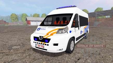 Peugeot Boxer Police vitre pour Farming Simulator 2015