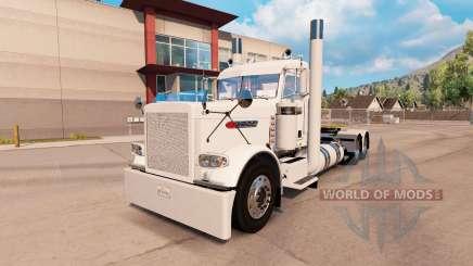 Dorfbewohner weißen skin für den truck-Peterbilt 389 für American Truck Simulator
