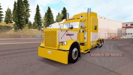 Haut Gelb und Weiß für die truck-Peterbilt 389 für American Truck Simulator