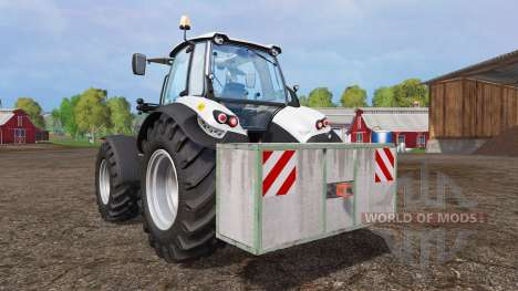 Concrete weight pour Farming Simulator 2015