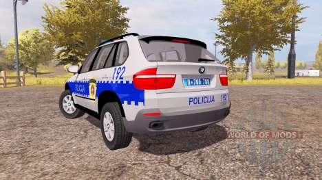 BMW X5 4.8i (E70) serbian police für Farming Simulator 2013