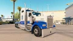 Die Blaue Haut und Grau auf dem truck-Kenworth W