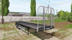 Fliegl flatbed trailer autoload v5.0 pour Farming Simulator 2017
