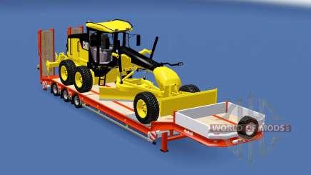 Semitrailer Caterpillar 140M v1.1 für Euro Truck Simulator 2
