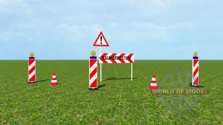 Traffic barrier v1.1 für Farming Simulator 2015