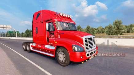 Скин États Logistique на Freightliner Cascadia pour American Truck Simulator