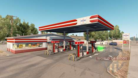 Real gas stations v1.2 pour American Truck Simulator