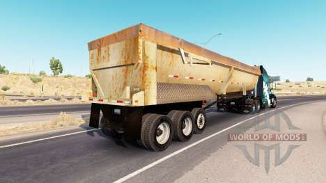 Rusty dumps trailer pour American Truck Simulator