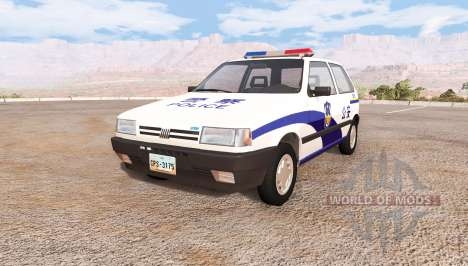 Fiat Uno chinese police pour BeamNG Drive
