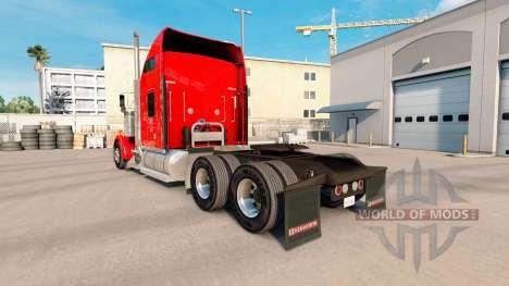 La flamme de la peau pour Kenworth W900 tracteur pour American Truck Simulator