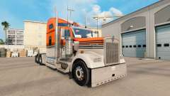 La peau Gris Orange sur le camion Kenworth W900