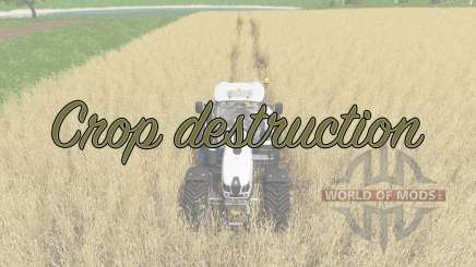Crop destruction für Farming Simulator 2017