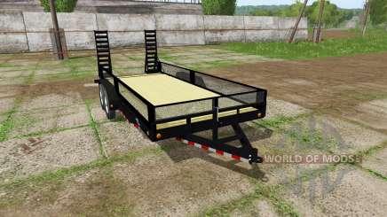 Platform trailer with sides für Farming Simulator 2017