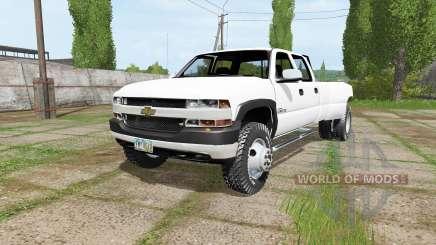 Chevrolet Silverado 3500 Crew Cab Dually 2001 pour Farming Simulator 2017