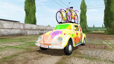Volkswagen Beetle 1966 peace and love v2.0 pour Farming Simulator 2017