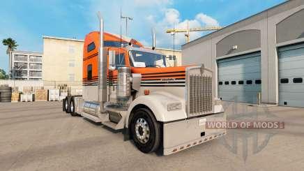 La peau Gris Orange sur le camion Kenworth W900 pour American Truck Simulator