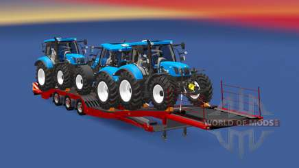 Semitrailer New Holland T6.160 für Euro Truck Simulator 2