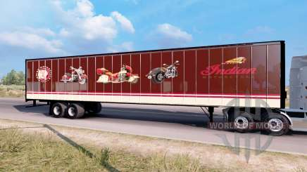 Indian Motorcycles box trailer für American Truck Simulator