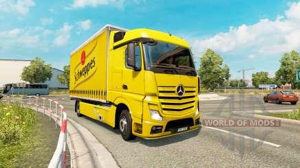 Tandem truck traffic v1.2 für Euro Truck Simulator 2