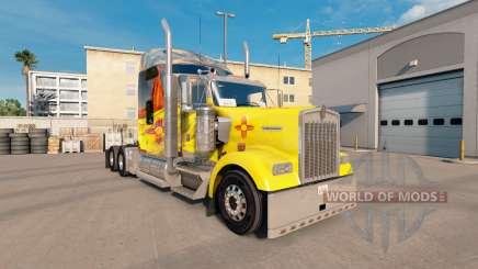 La peau du Nouveau-Mexique sur le camion Kenworth W900 pour American Truck Simulator
