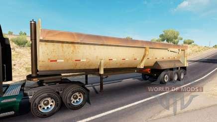 Rusty dumps trailer für American Truck Simulator