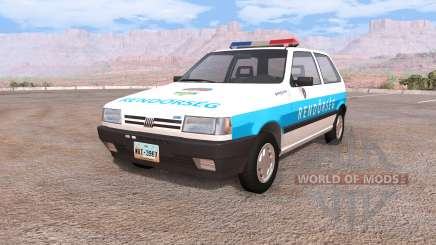 Fiat Uno hungarian police für BeamNG Drive