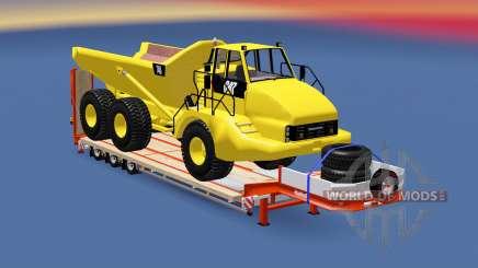 Semitrailer Caterpillar 740 pour Euro Truck Simulator 2